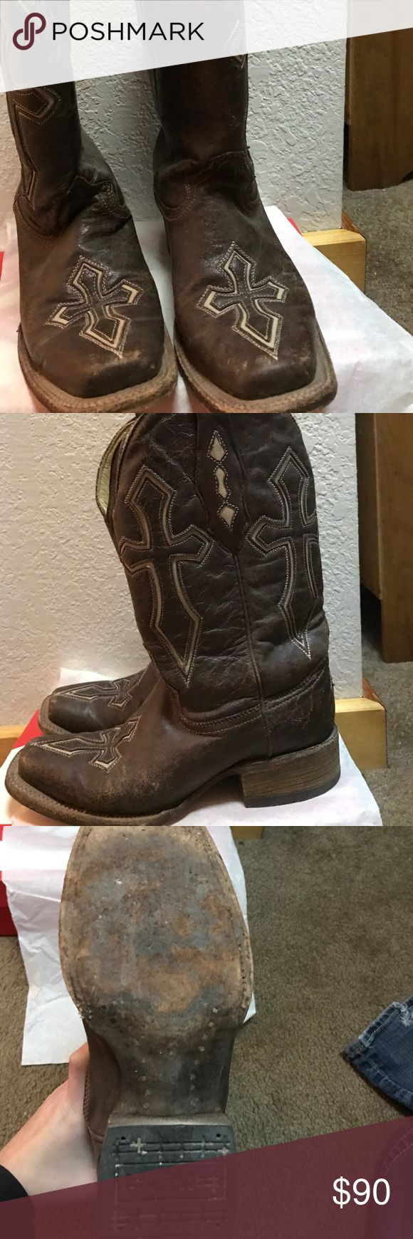 Corral vintage boots Still in great shape! Just too small for me🙁 Rock Revival Shoes Heeled Boots