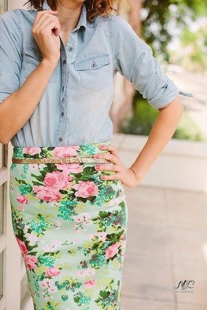 Look! Цветочные принты на юбках! 4
