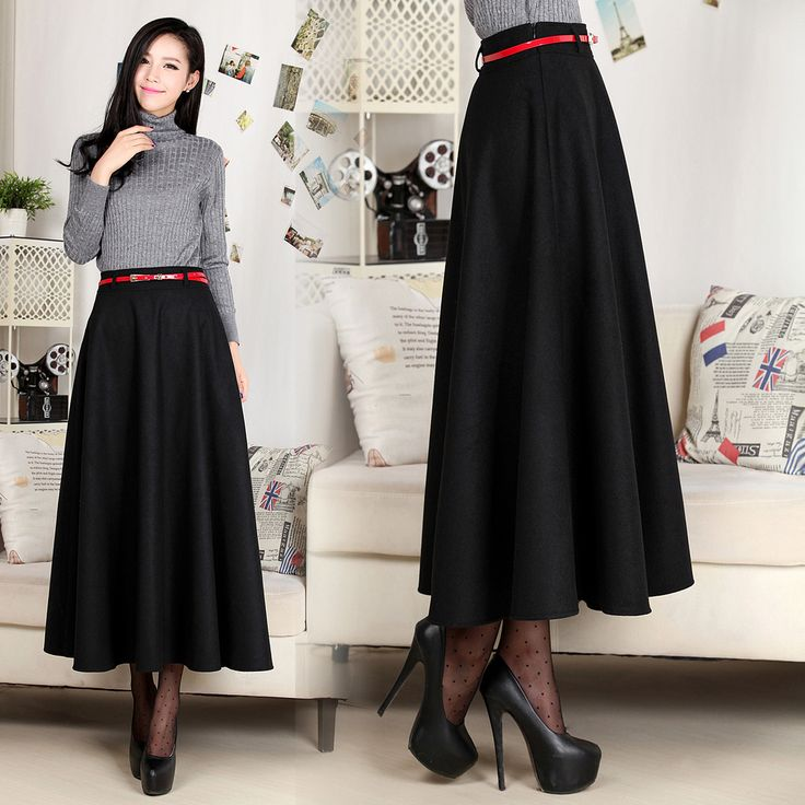 Long Slim Fit Skirts