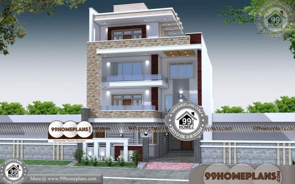 4 Story Apartment Building Plans 90 Contemporary Kerala Home Designs Kerala House Design Contemporary House Plans Free House Plans