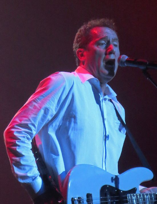 Andy McCluskey of OMD at Terminal 5 show in NYC, July 2013.