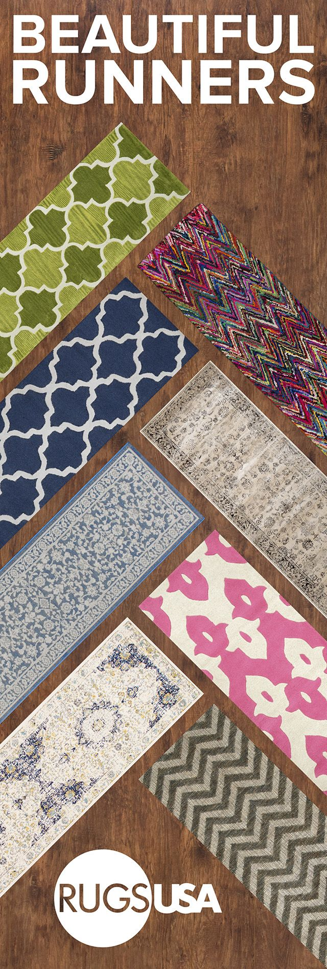 Rugs USA runners are limitless and available in a variety of styles, weaves, and material! Visit Rugs USA to fulfill your runner needs and with savings of up to 80% off!