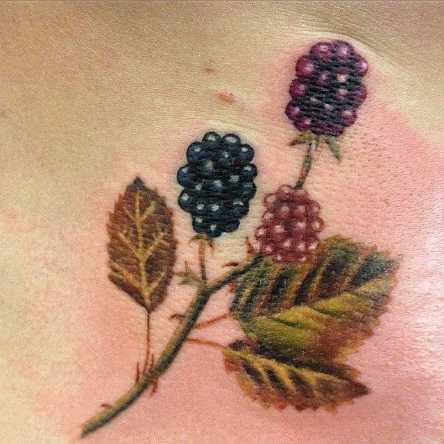 Blackberry painting duplication on Jennifer.