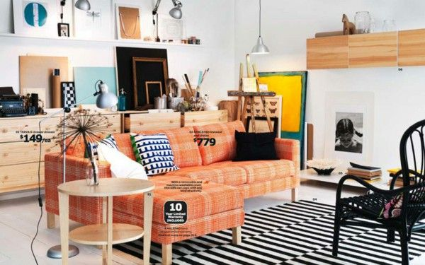 IKEA catalog trends ideas inspiration couch Orange