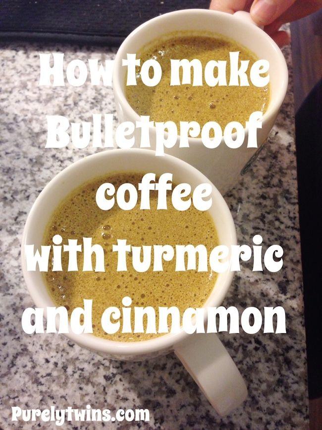 how to make bulletproof coffee with turmeric and cinnamon