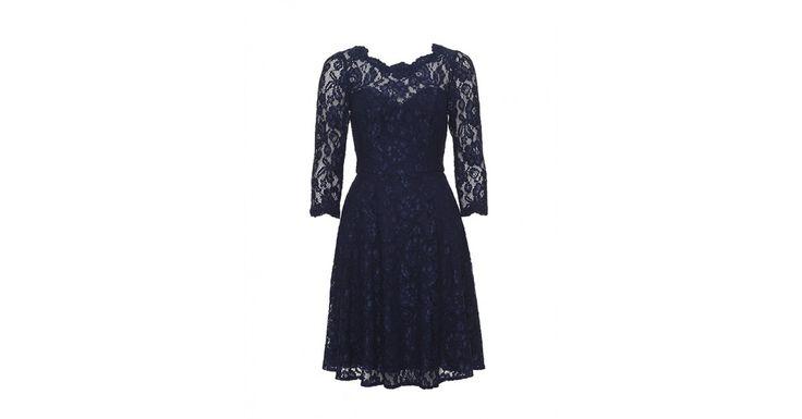 Review Australia | Melissa Lace Dress Navy