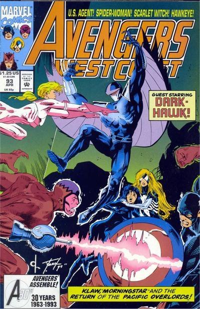Avengers West Coast # 93 by Dave Ross & Tim Dzon