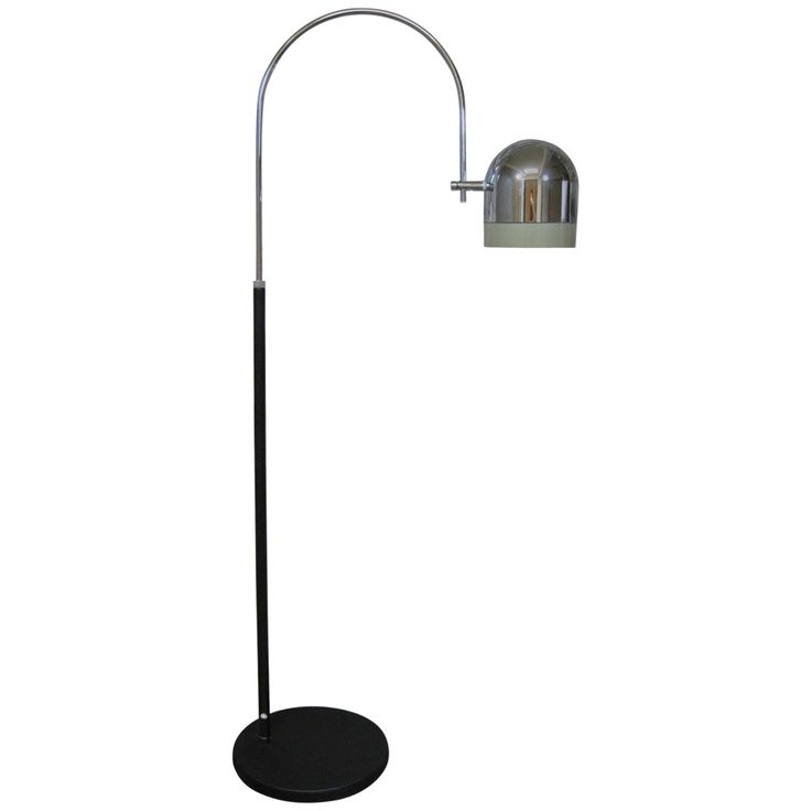 Mid-Century Modern Arc Floor Lamp | From a unique collection of antique and modern floor lamps at https://www.1stdibs.com/furniture/lighting/floor-lamps/