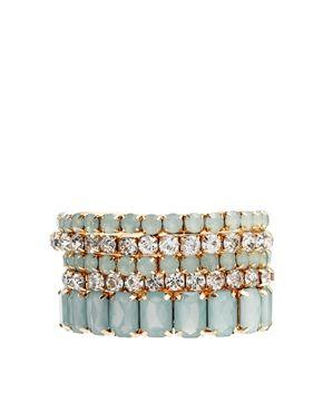 Image 1 ofErin Elizabeth For Johnny Loves Rosie Mint Lila Pastel Stretch Bracelets