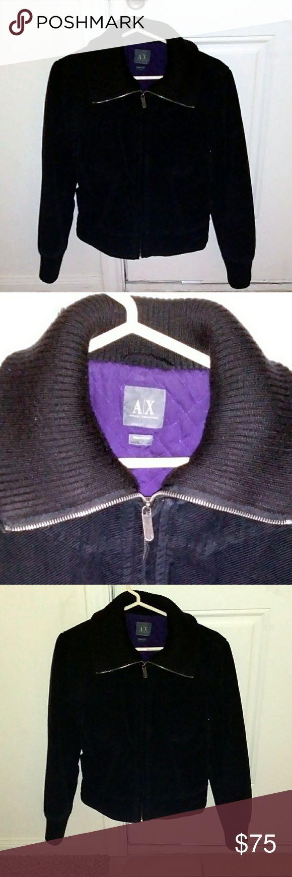 Armani exchange coat Black corduroy Armani Exchange Jackets & Coats