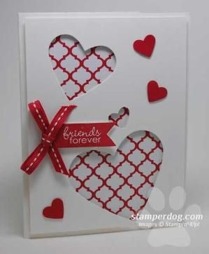 quick easy valentine card stampin up demonstrator ann m clemmer stamper