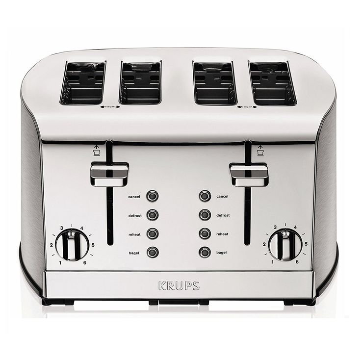 Dual independent control panels5 Functions: Cancel, Toasting, Defrost, Reheat and Bagel; 6-level adjustable browning control. 4-slice toaster with extra-large, self-centering slots. Unique design of brushed and chrome stainless steel with blue LED indicator. | eBay!
