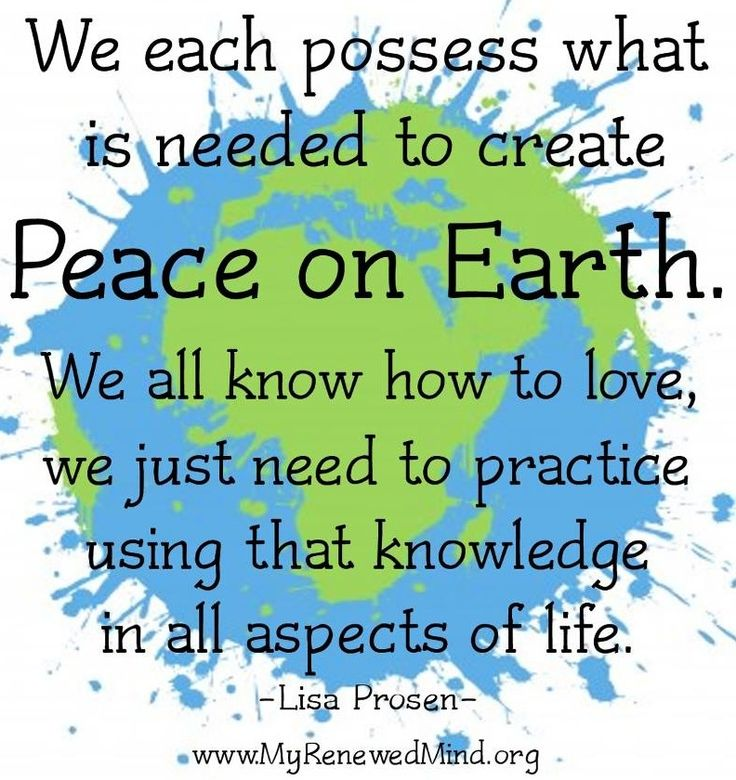 Peace Quotes: 17 Best Ideas About Peace On Earth On Pinterest
