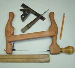 Coping Saw - Homemade coping saw constructed from Pacific madrona, brass, and drill rod.