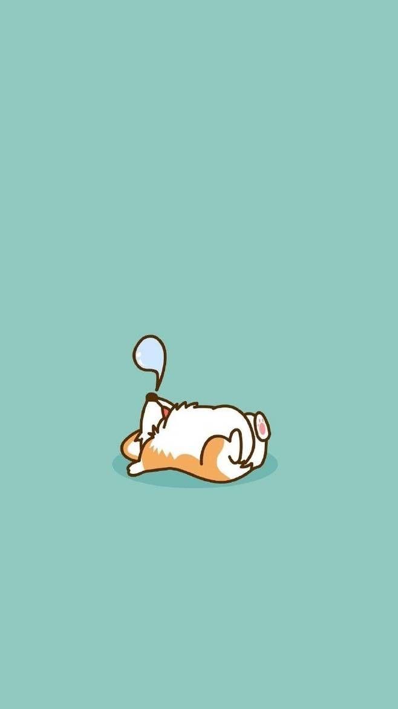 Cartoon Cute Animal Iphone Wallpaper Ipcwallpapers Cute Dog Wallpaper Cute Cartoon Wallpapers Corgi Wallpaper