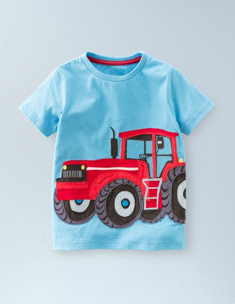 Vehicle Appliqué T-shirt 21903 Tops & T-shirts at Boden