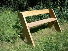 simple barnwood benches for outside wedding | Diy step by footstep woodwork project simple park bench plans about ...