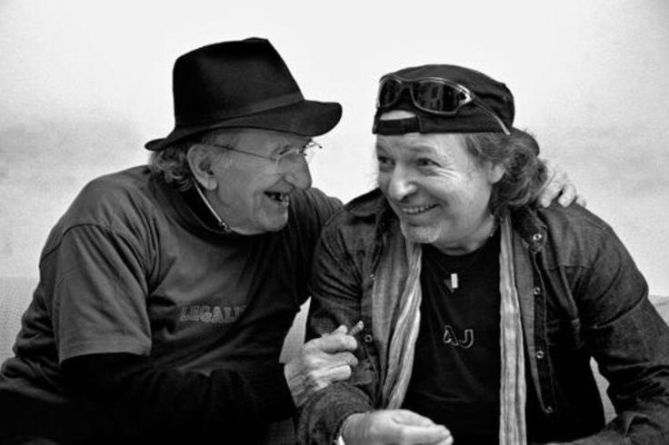 Vasco Rossi and Don Gallo