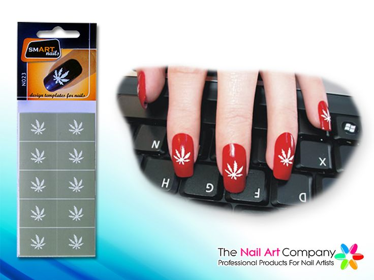 82 best stencil nailart images on pinterest vinyls nail the nail art company smart nails marijuana nail art stencil set n023 prinsesfo Images