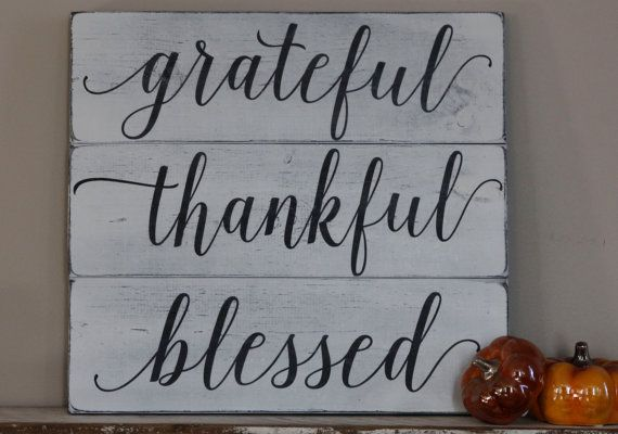 Grateful Thankful Blessed wood pallet sign by TheRusticChicSigns