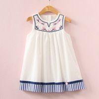 2017 muchachas Del Verano se visten vestido del bordado para niños ropa de moda vestidos de princesa niños vestidos de verano