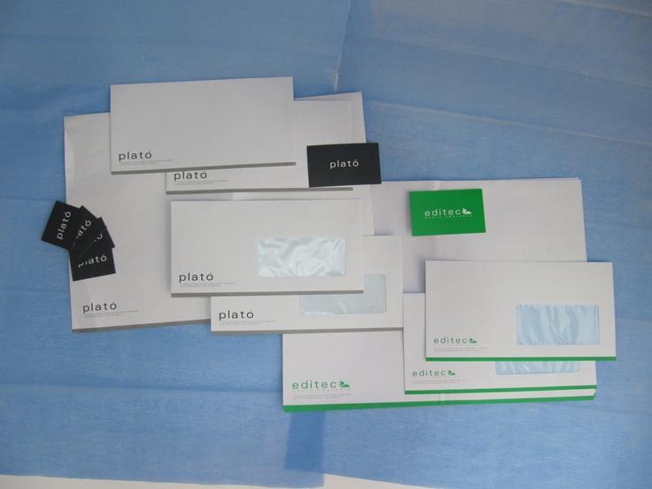 papelería editec • Impresión papelería plató / editec (sobres, tarjetas, pegatinas, etc…)