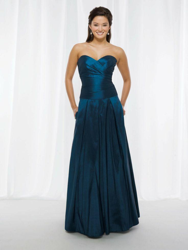 A Line Sweetheart Floor Length Taffeta Bridesmaid Dress Style