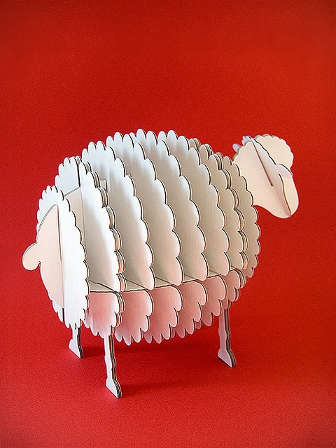cute cardboard sheep