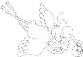 Resultado de imagen de dibujos de cigueñas con bebes para imprimir