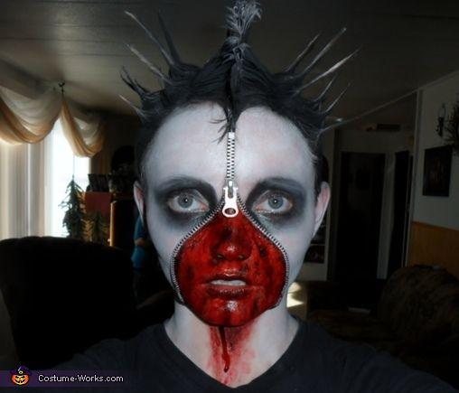 Dead Corpse Zipper Face - Halloween Costume Contest via @costumeworks