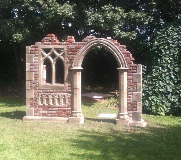Garten Stein Ruine Aus England Hawkesbury Castle Gotischer Garten Kleiner Garten Gartengestaltung Ideen