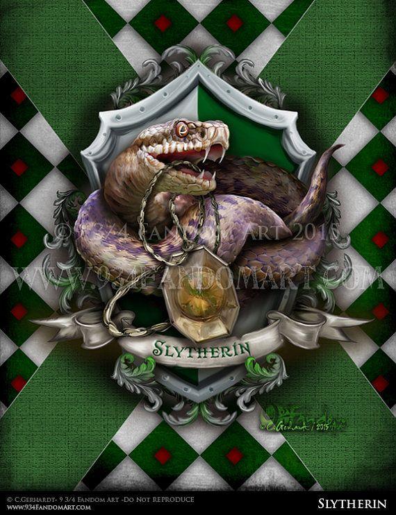 Slytherin - Fandom Art Print - Harry Potter House Inspired Fan Art
