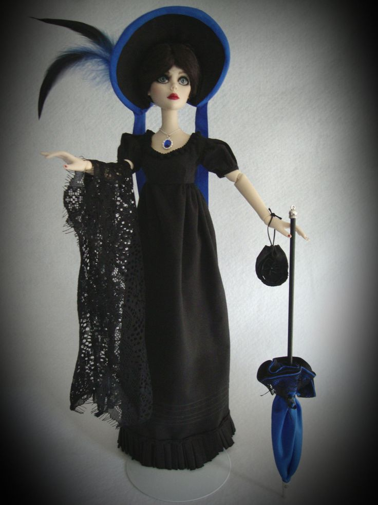Black Regency outfit