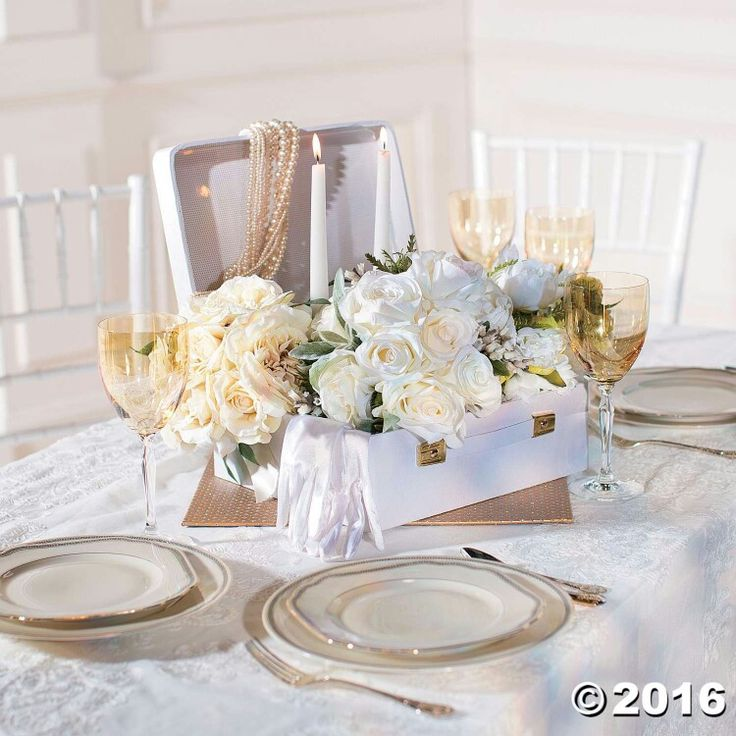 22 best weddingoriental trading images on pinterest wedding decor wedding decorations and supplies canada celebrate the start of your adventure together with this elegant cardboard mini white suitcase centerpiece junglespirit Choice Image