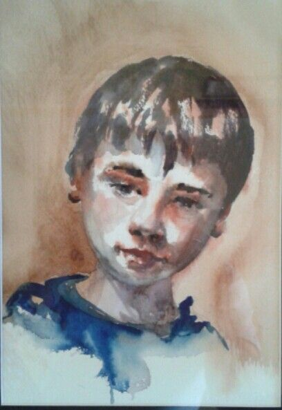 Kian, watercolour, Evan Jones