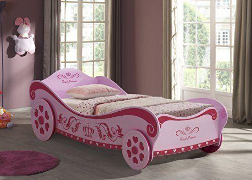 Letto-per-bambine-a-forma-di-carrozza-rosa-da-principessa-0