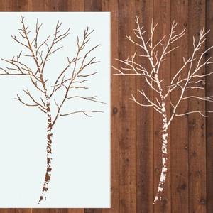 Birch Tree Stencil, 6 Foot  (Stencil1)