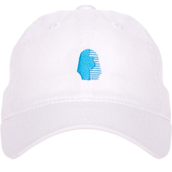 The Foundation OG Dad Hat White/Blue ($35) ❤ liked on Polyvore featuring accessories