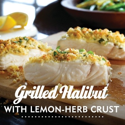 It's Fish Friday! The Hellmann's mayonnaise in this Grilled Halibuty recipe makes it extra moist