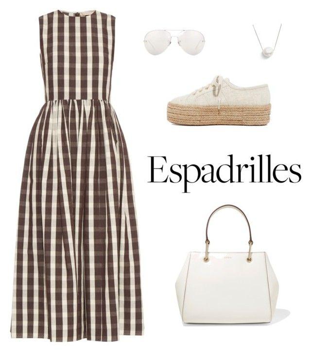"""Espadrilles"" by sheere on Polyvore featuring moda, Brock Collection, Superga, Linda Farrow, DKNY i Chan Luu"