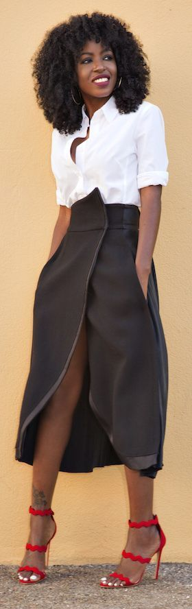 High Rise Wrap Maxi Skirt  women fashion outfit clothing style apparel @roressclothes closet ideas