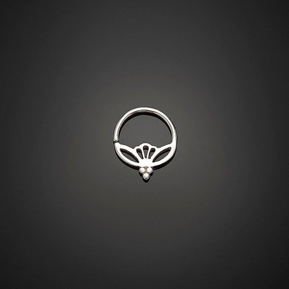Hey, I found this really awesome Etsy listing at https://www.etsy.com/listing/236210946/silver-septum-ring-lotus-septum-17g