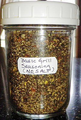 DIY Homemade Basic Grill Seasoning (No Salt) #healthy