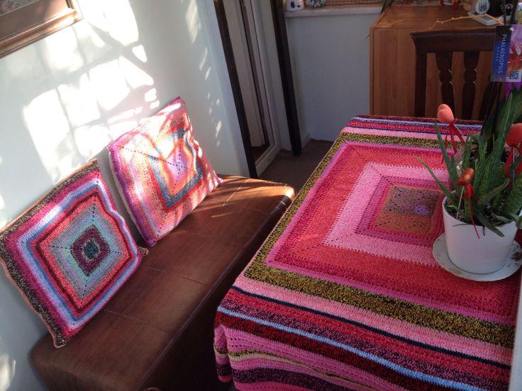 Balcony ideas, crochet, pilow