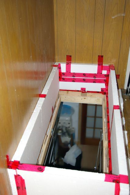 Diy Attic Door Insulation Box For 15 Assorted Stuff