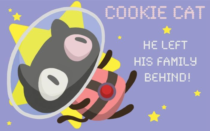 """Cookie Cat! He's a pet for your tummy! Cookie Cat! He's super-duper yummy!""  Inspired by the cookie cat ice cream sandwiches from ""Steven Universe"" created by Rebecca Sugar on Cartoon Network!"