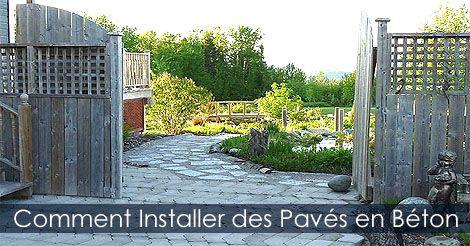Guide d'Aménagement Paysager - Comment Installer des Pavés en béton - Pose de pavés unis. Voir : http://www.france-jardinage.com/amenagement-paysager/