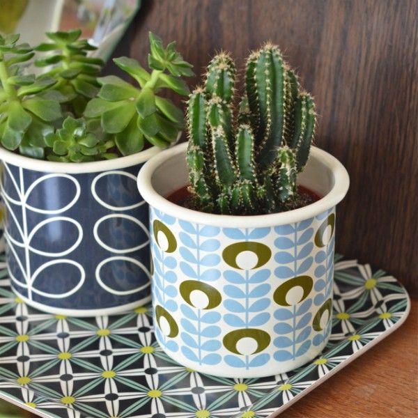 cache-pot avec graines Flower oval Orla Kiely - deco-graphic.com
