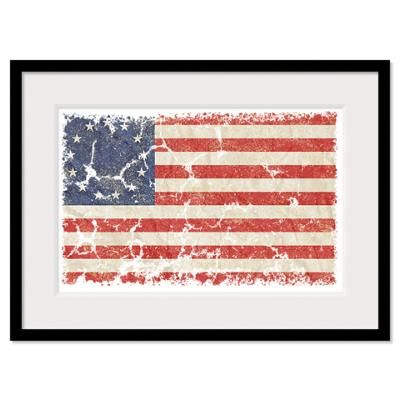 printable 13 colonies flag | CafePress > Wall Art > Framed Prints > 13 Colonies US Flag Distresse ...