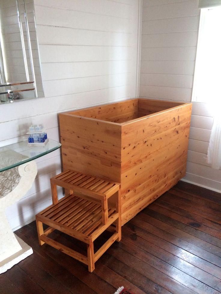 japanese hinoki wood soaking tub. Wooded Bath Tub  Cyprus Pine Japanese Ofuro Style Nearly 50 off 8 best bathroom design images on Pinterest